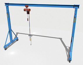 Gantry Crane 1 PBR 3D model game-ready