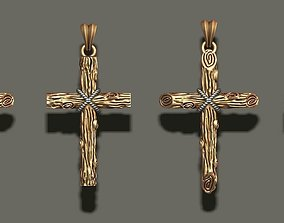 gold cross pendant pack 3D print model