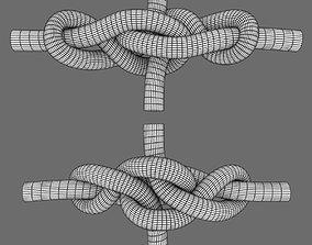 broach bend knot 3D asset