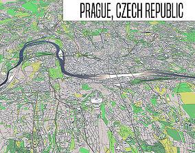 Prague 3D topography
