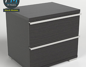 Two drawers bedside table 3D PBR