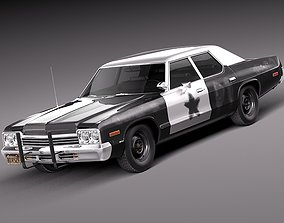 3D model Dodge Monaco 1974 Bluesmobile