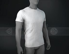3D model Slim Fit White T-Shirt