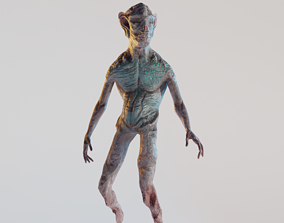 3D asset LowPoly Zombie Alien