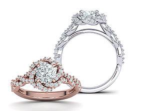 Weaving Halo Engagement ring 3dmodel usa