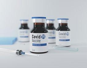 Covid 19 vaccine Mock up 3D model