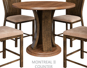 Montreal II Counter Height Table 3d model low-poly