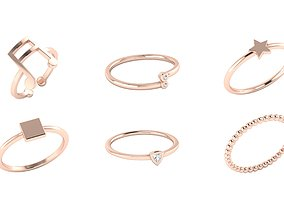 3D printable model Minimalistic simple ring collection 3
