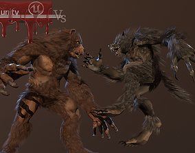 3D model WereBear vs Werewolf
