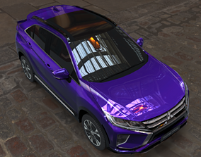 3D mitsubishi eclipse cross blue