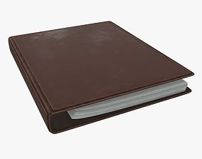 Leather ring binder 3D