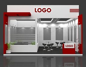 Exhibition Booth 3D Model 6 mtr x 6 mtr