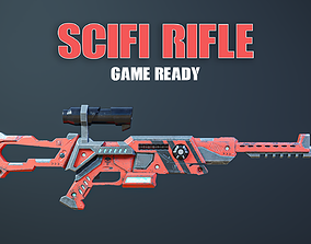 3D asset Scifi Rifle Game Ready