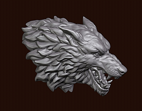 sculptures Wolf head 3D print model