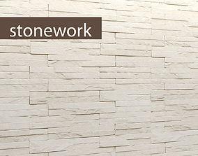 Stone white slate 3D