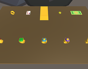 Low Poly Money and Jewels Pack 3D model
