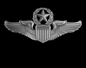 3D USAAF Command Pilot Wings Badge