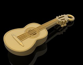3D printable model Guitar pendant music jewelry
