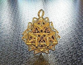 3D printable model BRO WOVEN OCTAHEDRON PENDANT