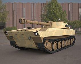 2s1 gvozdika 122mm 3d model