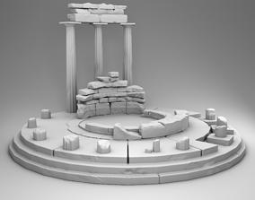 3D printable model Delphi museum ruins