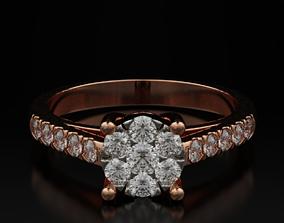 3D printable model Imitation stone diamond ring 601