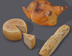 3D Cheese Turkey and Baguette Pack