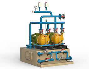 Large industrial compressor 3D