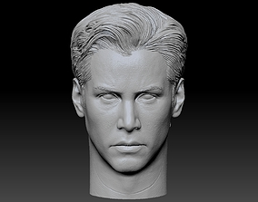 Neo Anderson From Matrix Keanu Reeves Head 3D