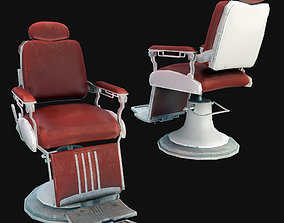 Barber Chair 3D asset realtime