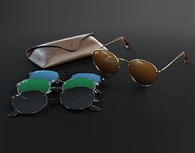 Ray-Ban round Sunglasses 3D