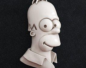 Homer simpson 3D printable model gold