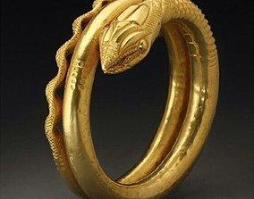 Ring Snake 3D print model silver