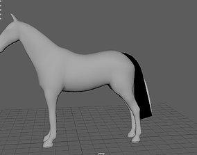 Horse 3D model low-poly mammal