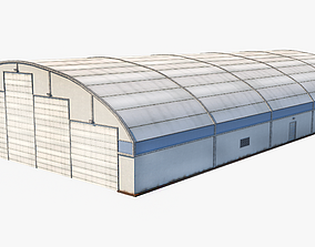 3D asset Aircraft Maintenance Hangar