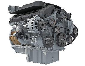 British V12 Engine 3D