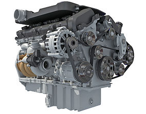 British V12 Engine 3D