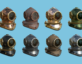 3D 08 Diving Helmet Collection - Character Design Fashion