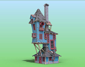 Harry Potter Cartoon House 3D asset