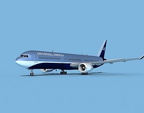 3D model Boeing 767-400 Universal Charters