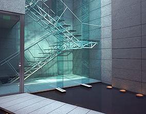 Spacious Modern Lobby 3D model