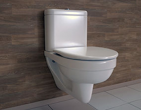 3D asset Toilet UV Lightmapped - includes LODs - Octane