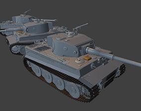 Panzerkampfwagen 6 tiger tanks 3D print model