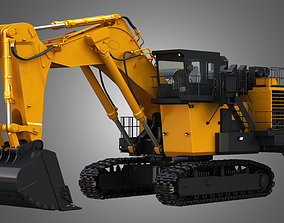 3D model EX8000-6 - Mining Excavator and Shovel