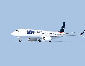 Boeing 737-800 Max Polish LOT 3D model