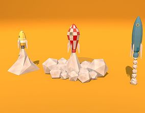 3D Low Poly Rockets