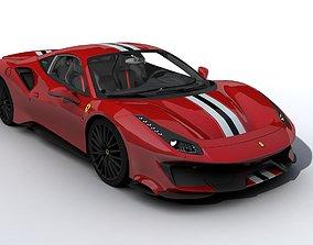 3D model Ferrari 488 GTB Pista 2019