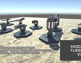 Modern Unmanned Turrets v2 3D model