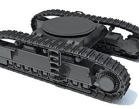 excavator 3D Bulldozer Excavator Track