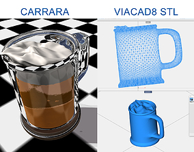 Mug beer inclined 3D model